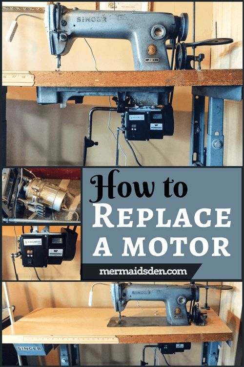 Jun 30 Singer 281 Motor Replacement: Clutch to Servo | Crafts Ideas