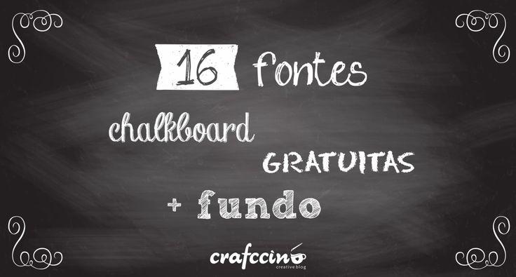 chalkboard free fonts | fontes grátis para lousa #lousa # ...