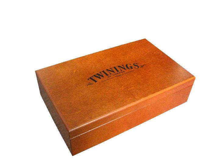 Twinings Box Cassetta Legno  80 Filtri Tè Thè INCLUSI 8 Scompartimenti