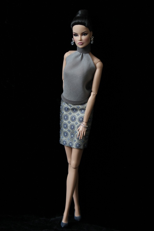 So refined.  OOAK Fashion by Petra Elise Fashion Doll Couture
