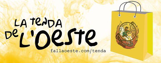"""Obrim """"La Tenda de l'Oeste"""" en www.fallaoeste.com/tenda on podràs trobar molt prompte productes oficials de la nostra comissió. De moment ja podeu comprar la Loteria de """"Nadal"""" i """"del Xiquet""""."""