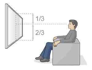 LCD Fernseher an die Wand
