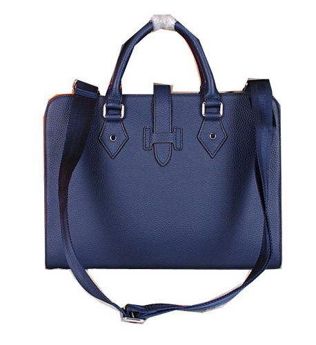 Hermes Briefcase Original Calf Leather H3308 Royal - $289.00