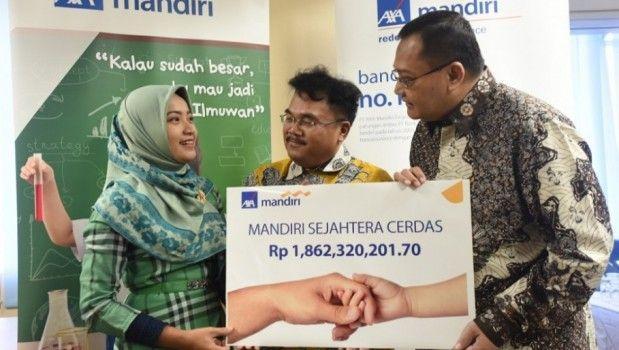 Catatan di situs Beritasatu, perusahaan asuransi Indonesia AXA Mandiri Financial Services (AXA Mandiri) menyerahkan klaim senilai Rp. 1,86 M pada pemegang polis.