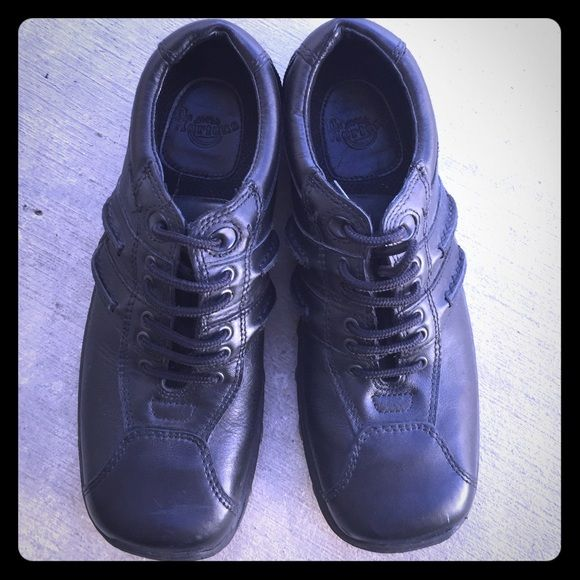 Doc Martens black shoes. Used once!  Practically new, does not fit my style anymore. Black and authentic. Box not included. Style 8A99 All black. Will fit a 6.5-7 coz they run big. Dr. Martens Shoes Combat & Moto Boots