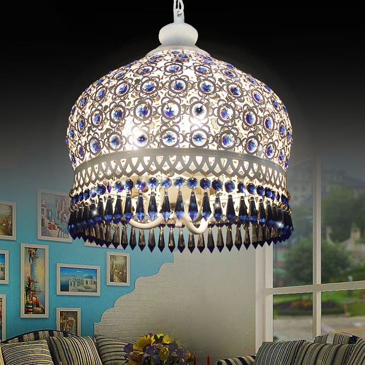 Cheap e27 lampholder, Buy Quality e27 grow light directly from China e27 ceramic Suppliers: 	Mediterranean Pendant lights. Bohemian crystal Iron suspension lamp. E27 LED bulbs Ceiling Drop Light residential Light