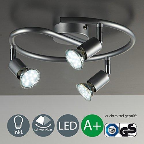 Oferta: 24.95€ Dto: -38%. Comprar Ofertas de Lámpara LED de techo-foco de luz/lámpara de techo de-Lámpara de/Spot/GU10/3 vatios/250 lumens/inclinable/colour titanio, gris barato. ¡Mira las ofertas!