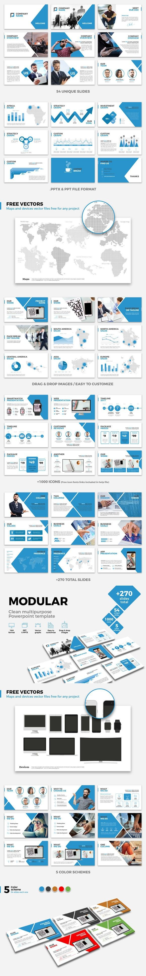 MODULAR Multipurpose Powerpoint temp. Infographic Templates. $12.00