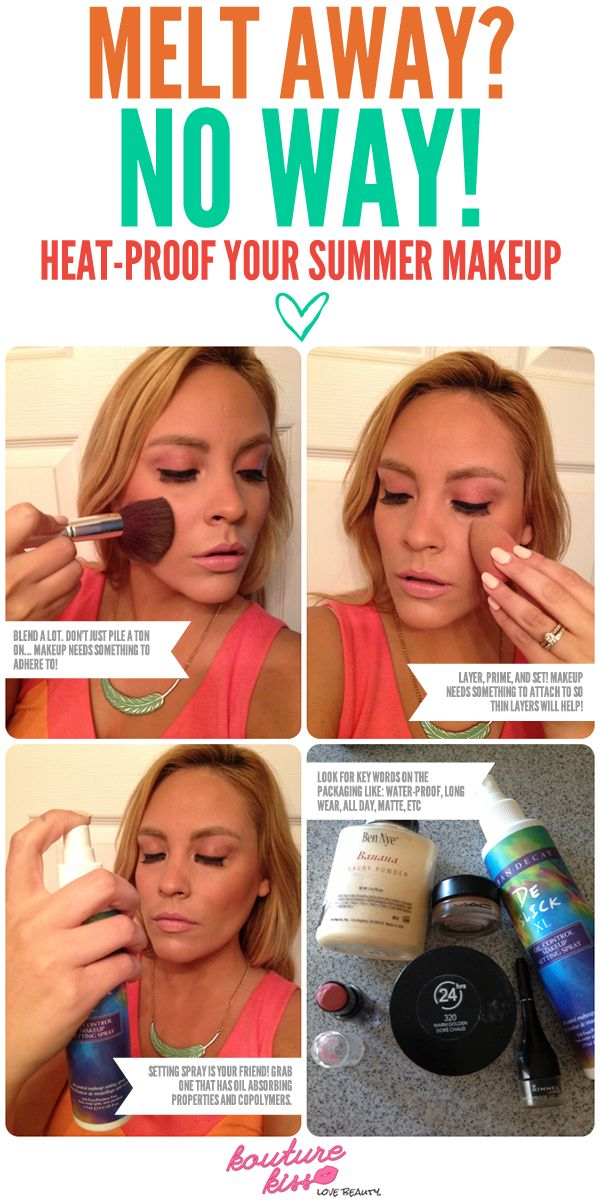 nike running watches chronograph Melt Away? No Way! How To Heat-Proof Your Makeup For Summer | No Way, Makeup and Summer