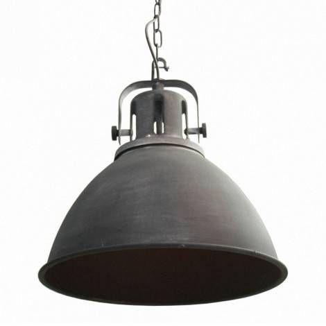 Industriele Hanglamp Coventry Cement  - Beton look - Mat grijs