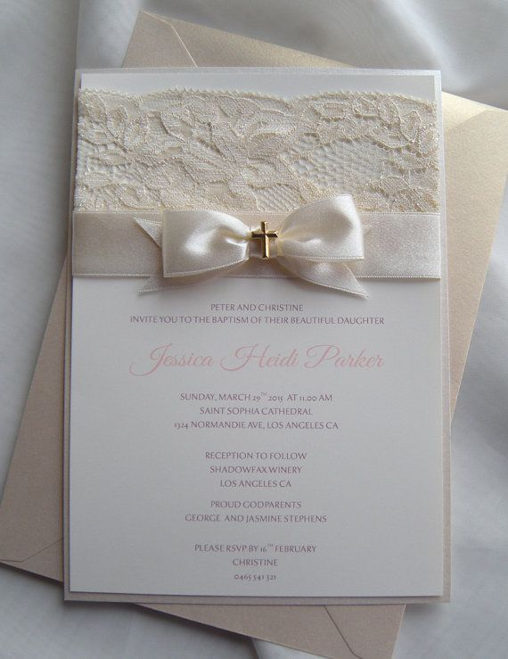 Baptism Invitation Christening Invitation Wedding by JRTDaisy