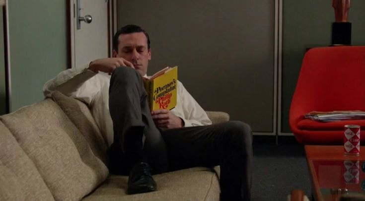"Portnoy's Complaint, by Philip Roth, in Mad Men Season 7 Episode 4, ""The Monolith"" http://www.nypl.org/blog/2012/02/27/mad-men-reading-list"