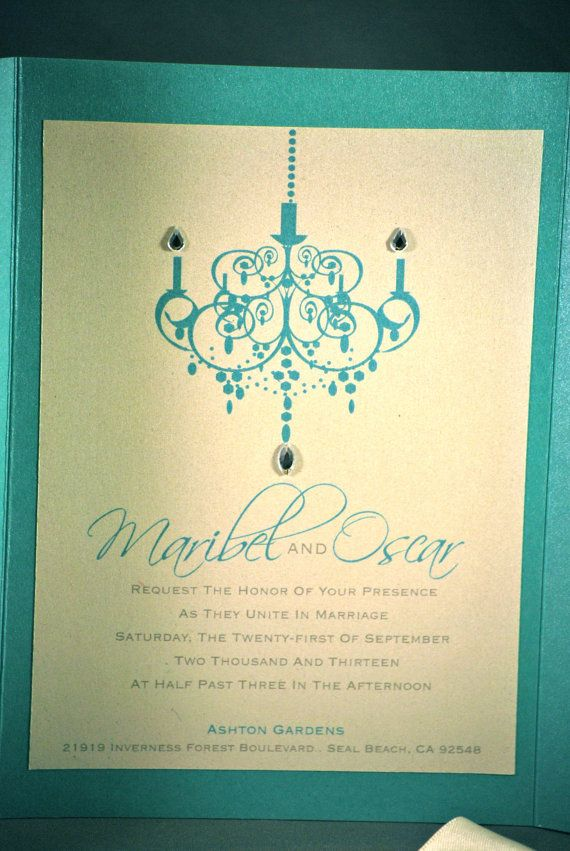 Tiffany Blue Wedding Invitation by OuttheBoxCreative on Etsy, $4.00