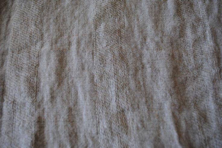 Vanille Stripe Flax 100% linen - 115cm