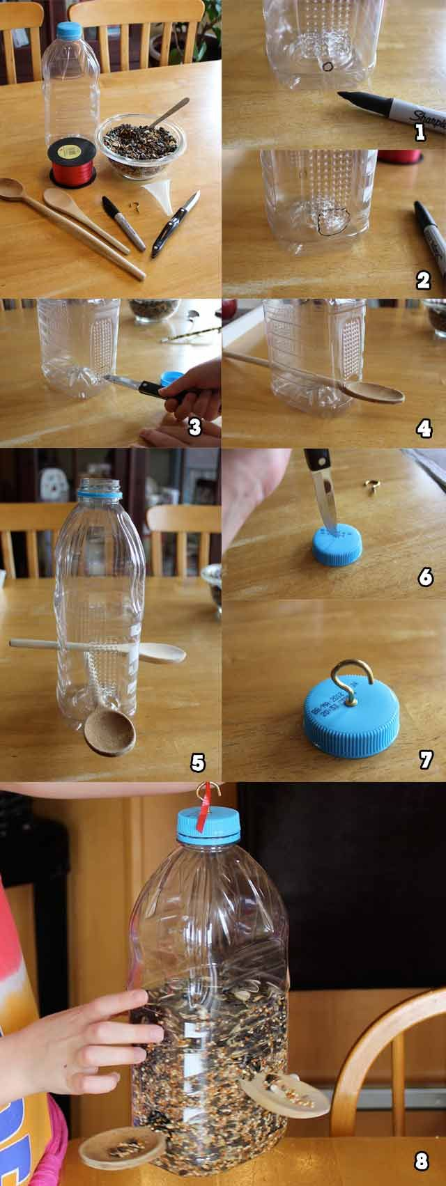 Soda Bottle Bird Feeder Tutorial