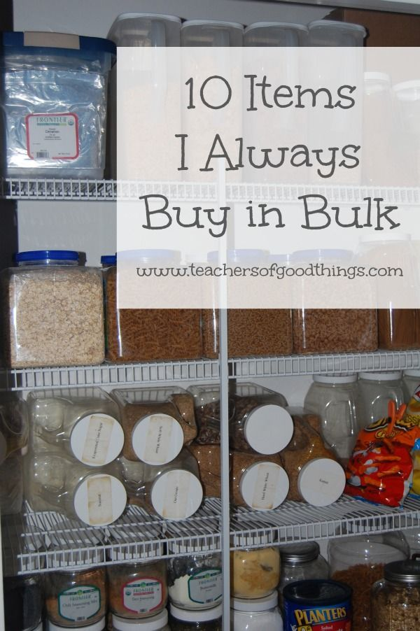 I have been a bulk buyer for over 12 years and in doing so, I have learned a lot about the things that save our family the most money with buying food in bulk.