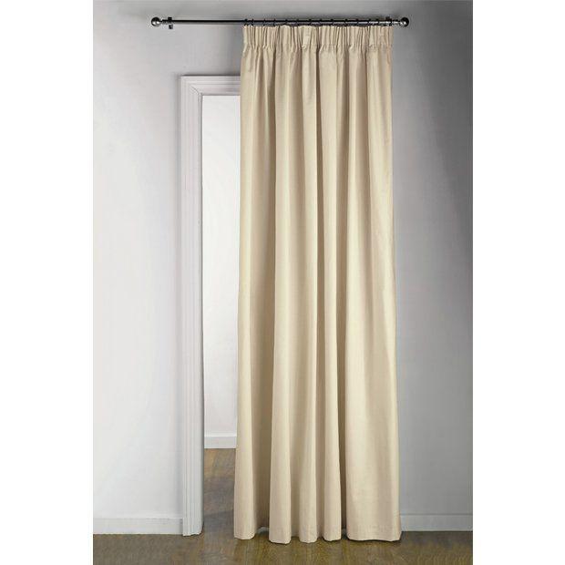 Green Velvet Curtains Argos: Buy Argos Home Thermal Pencil Pleat Door Curtain