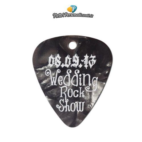 Plettri personalizzati come bomboniera per un matrimonio Rock!