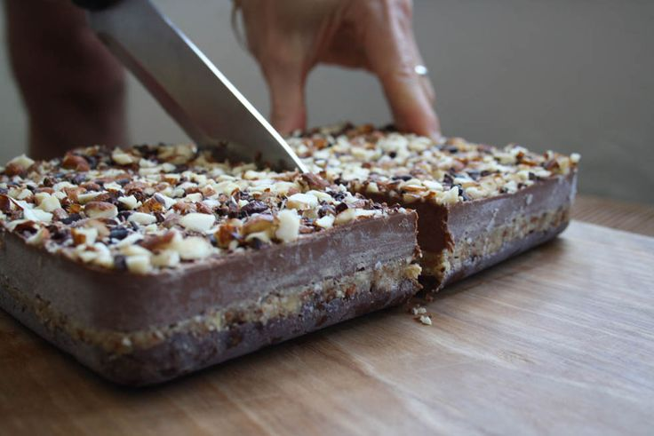 Raw Salted Caramel & Almond Cake