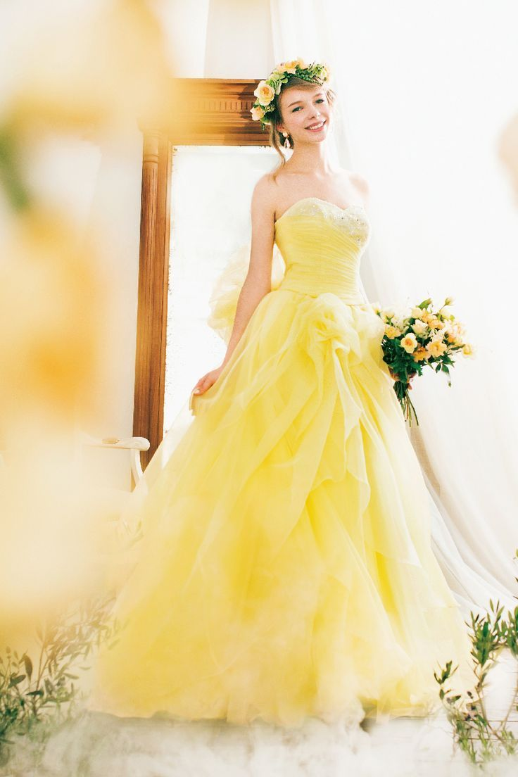 25  best ideas about Yellow wedding dresses on Pinterest | Grey ...