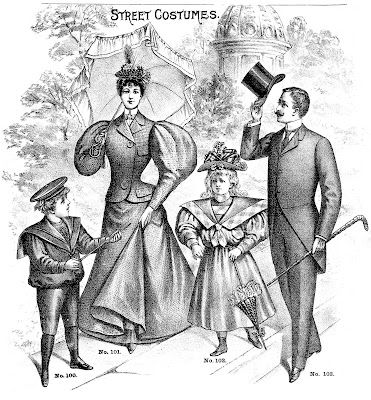 Father's Day Clip Art - Victorian Family - Dad - The Graphics Fairy