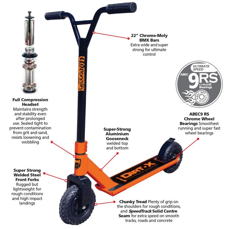 Adrenalin Dirt Scooter X Off Road Scooter Orange - x sports au