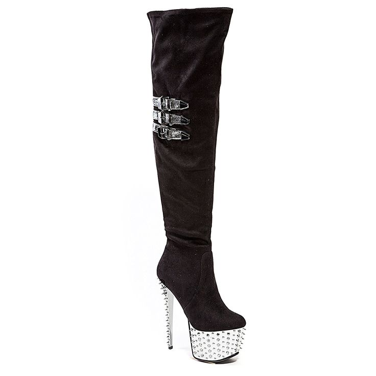 Stiletto Heel Platform Over Knee Stretch Dancer Boot Party Club Women's Boots by Lady Couture CLUB