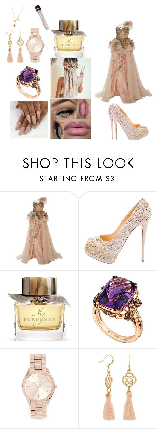 """hosting la voz kids colombia p:3"" by jazmin-576 on Polyvore featuring Giuseppe Zanotti, Burberry, LE VIAN and Michael Kors"