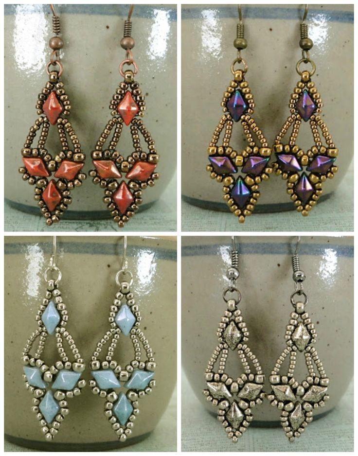 Free Beading Pattern: Arabella Earrings From Linda's