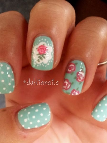 Cath Kidston Nails | Look What I'm Wearing