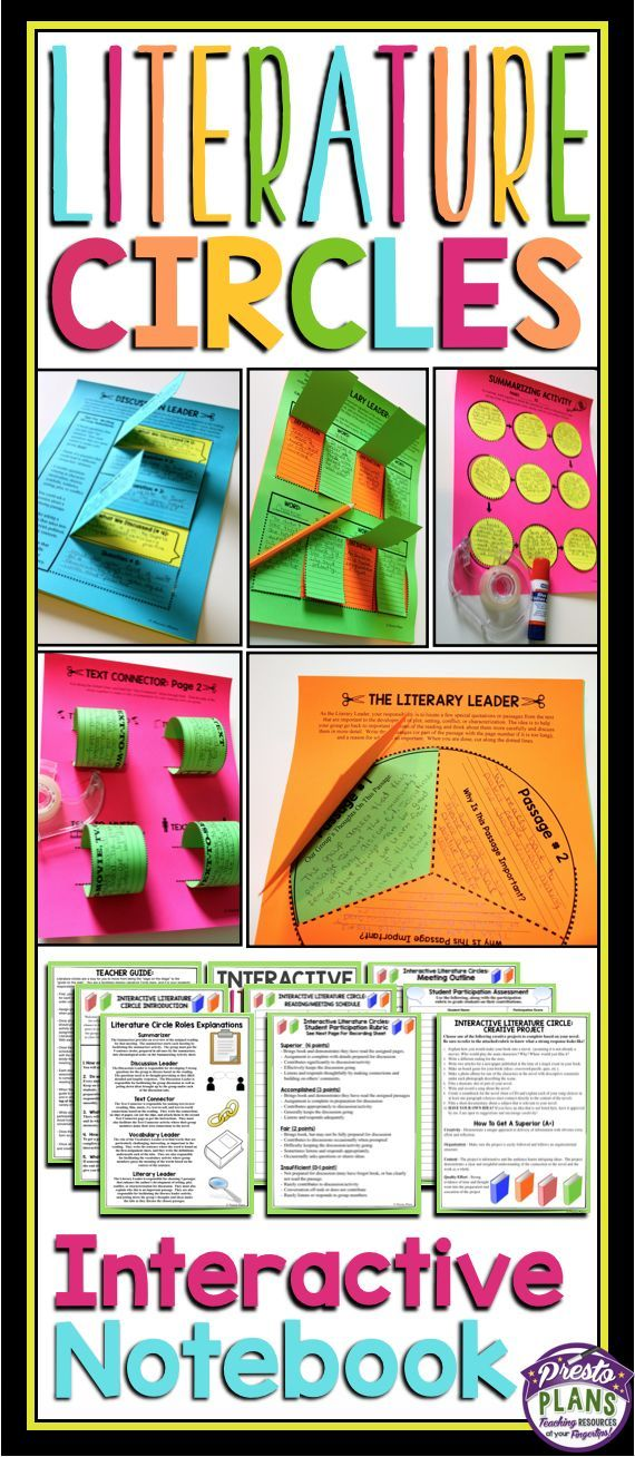 Bring literature circles into your classroom in a new, fun, and creative way with interactive notebook activities and assignments.