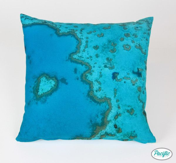This cushion features Heart Island on the Great Barrier Reef printed on high quality non fade material.