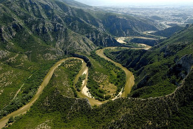 Nestos river crosses northern Greece and ends up in a Delta, east of the city of #Kavala #Greece