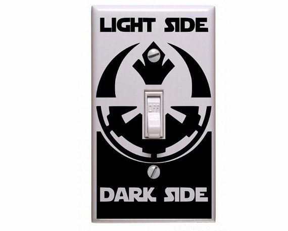 Star Wars vinyl decal! Spruce up boring light fixtures and let your Star Wars love shine! Different colors available