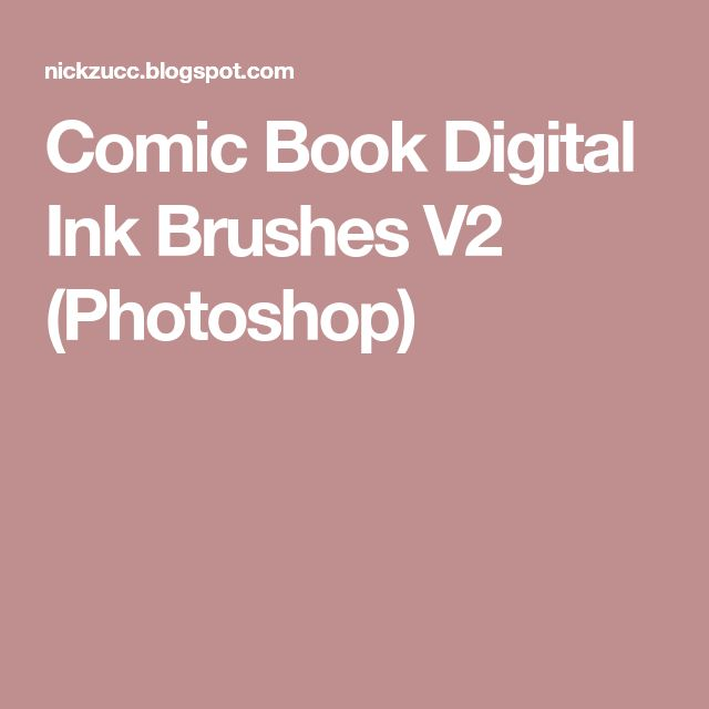 Comic Book Digital Ink Brushes V2 (Photoshop)