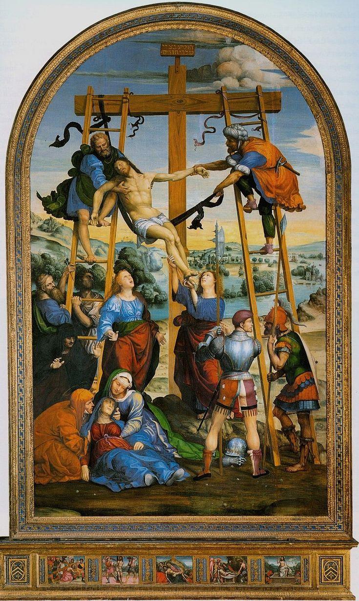 Содома. Снятие с креста. 1510-13. Сиена, Пинакотека.