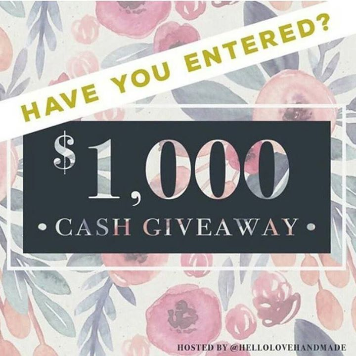 There is still time to enter this $1000 PayPal cash giveaway! Comp ends soon! See original post for details  #competition #giveaway #cashgiveaway #loopgiveaway #loop #cash #win #wincash #getinquick #supportsmallbusinesses #handmade #handmadeisbetter #handmadewithlove #loopy http://ift.tt/2iNLdsR