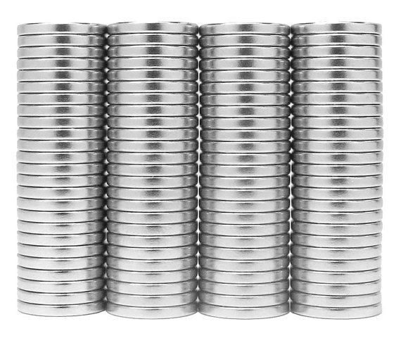 1/2 x 1/16 inch Neodymium Rare Earth Disc Magnets N48 (100 Pack)