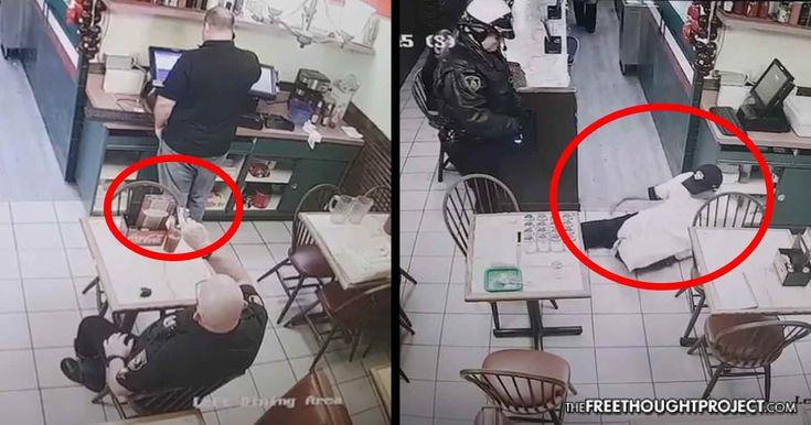 WATCH: Crazed Cop Terrorizes & Shoots Innocent People With His Taser in Pizza Restaurant