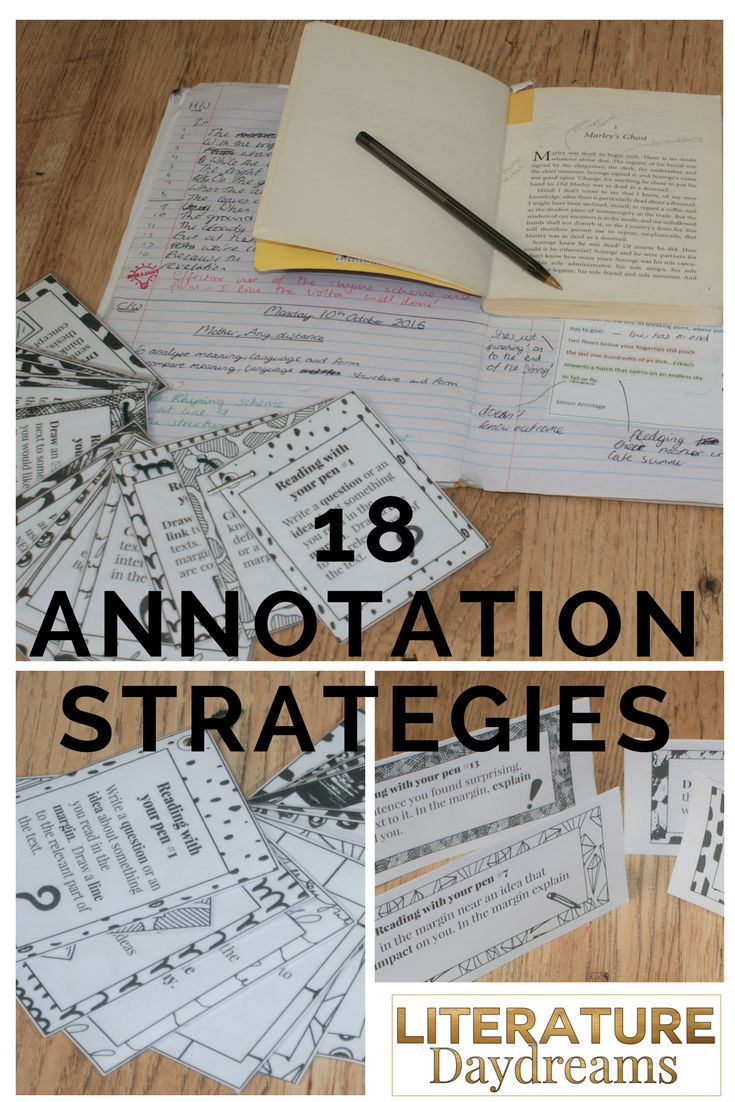 Teaching students to annotate texts independently can be tricky. Spotting alliteration and repetition is easy. But can students quickly identify elements that are contradictory or surprising to readers? These 18 annotation activities can be used at Middle or High School level to annotate anything from poetry to non-fiction.