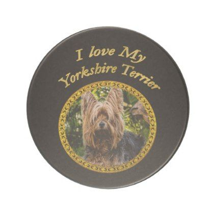 #Sweet Yorkshire terrier small dog Drink Coaster - #yorkshire #terrier #puppy #terriers #dog #dogs #pet #pets #cute #yorkshireterrier