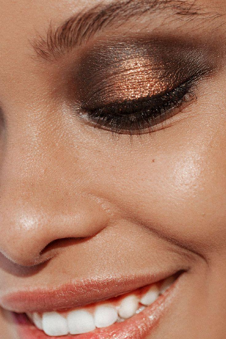Glittery eye makeup at NYFW F/W17: Brandon Maxwell