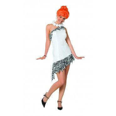 Wilma Flintstone Costume - Includes dress, wig, and necklace.