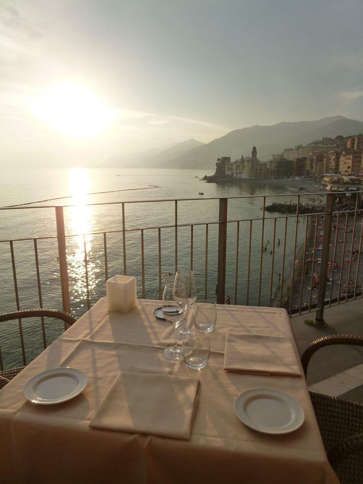 """Cena, Ristorante di """"Hotel Cenobio dei Dogi"""", Camogli Liguria Italia (Luglio)"""