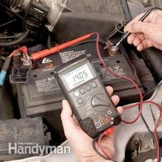 Don't disconnect the battery; use a voltmeter instead.