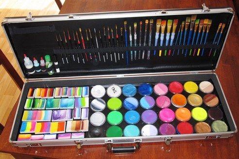 New gun case face painting setup pinterest colors for Face paints supplies