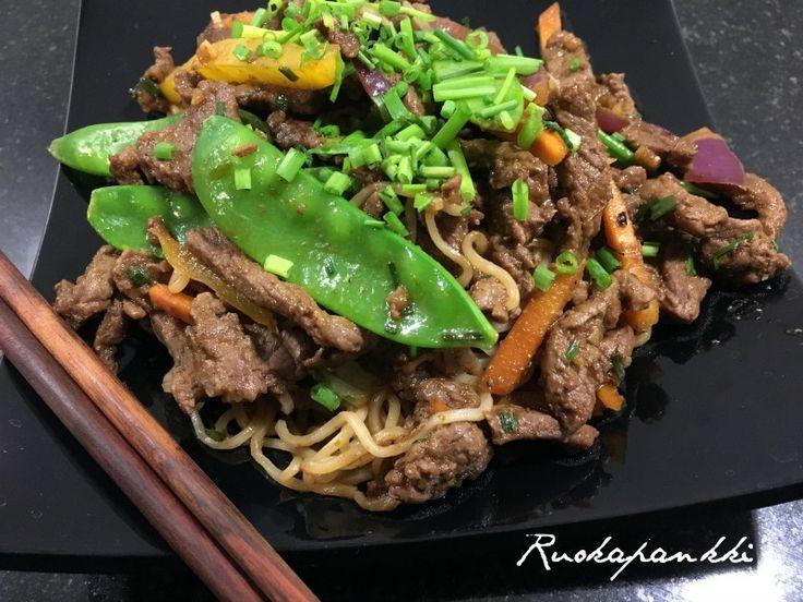 Ruokapankki: Aasian wokki tamarindikastikkeen kanssa #ruokapankki #ruokablogi #wok #foodie #foodblogger #food