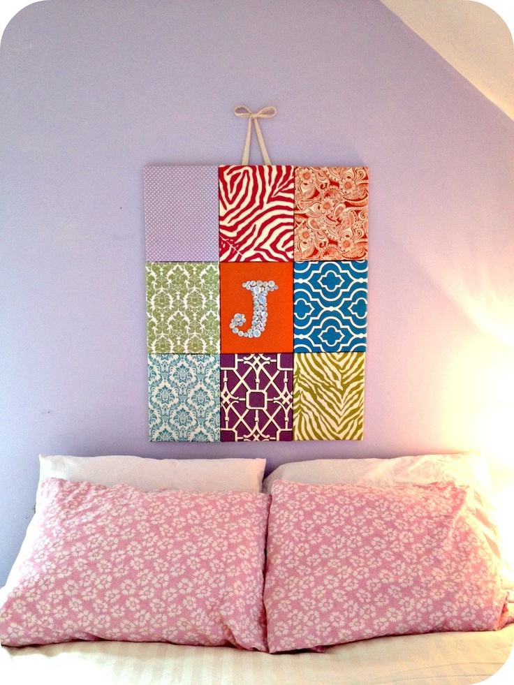 Diy Wall Art Collage : Fabric collage wall art paper and diy ideas