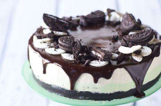 Nadiya's no-bake mint Oreo cheesecake
