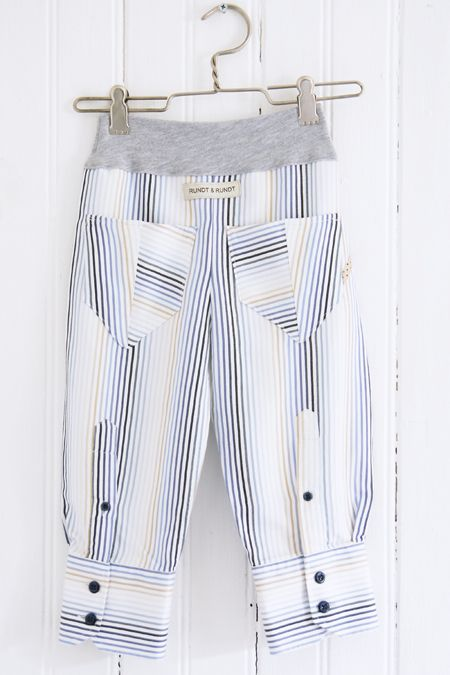 Redesign: Childrens pants made from the arms of mens shirt.